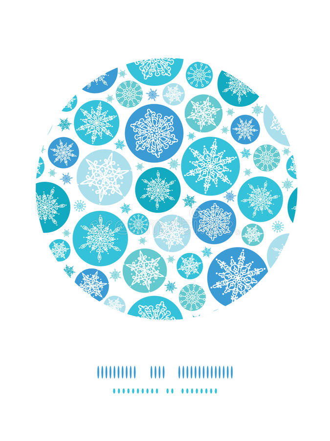 Round Snowflakes Circle Decor Pattern Background Royalty Free Stock Images