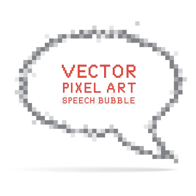 Download Round Speech Bubble In Pixel Art Style Stock Vector - Image: 23966214