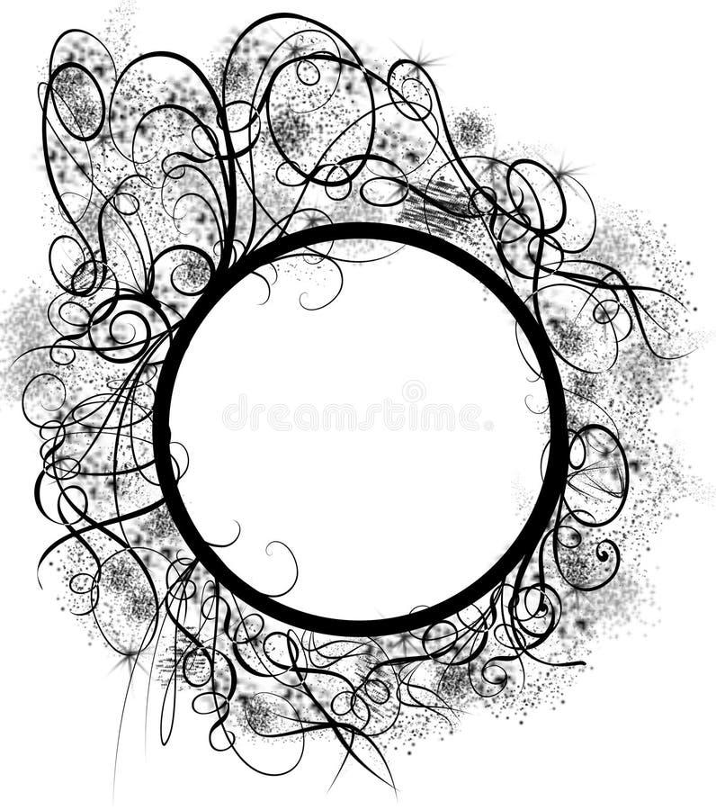Round spiral frame royalty free stock photos