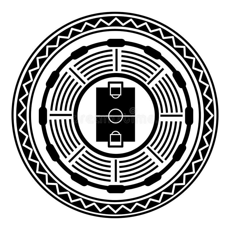 Round stadium odg?rnego widoku ikona, prosty styl ilustracji