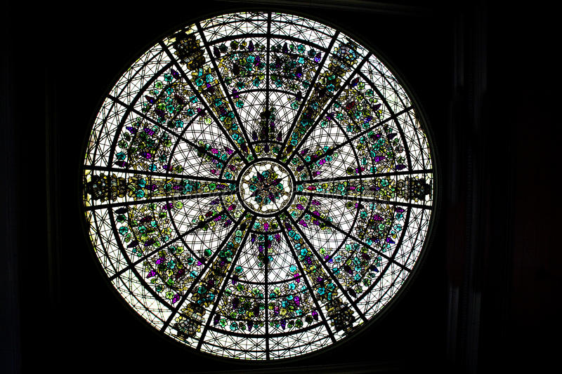 Round Stained Glass Window royalty free stock photos