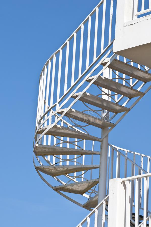 Round stairway stock photo