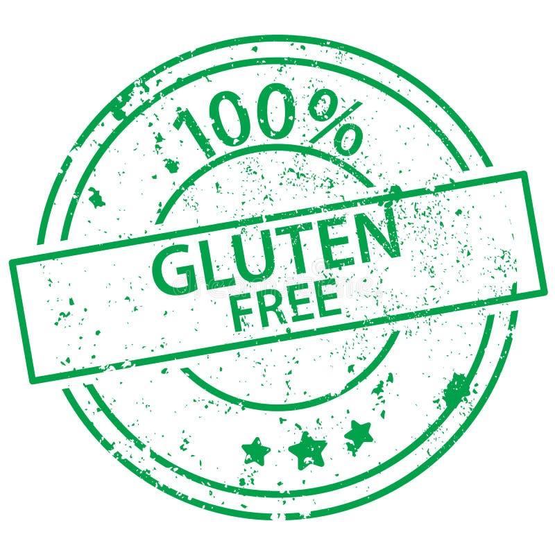 Round stamp - 100% gluten free royalty free illustration