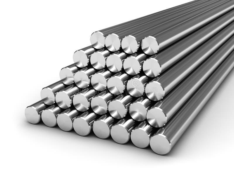 Round steel bars vector illustration
