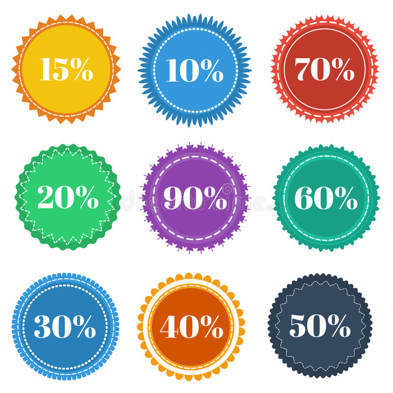 Download Round stickers stock illustration. Image of border, labels - 33322035