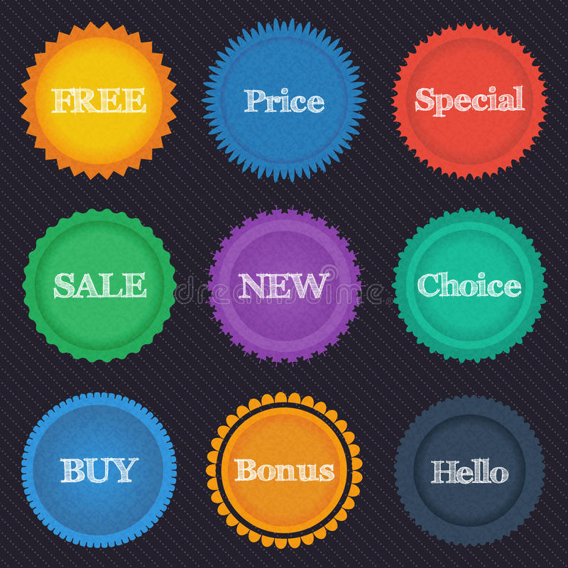 Download Round Stickers Royalty Free Stock Photos - Image: 33321958