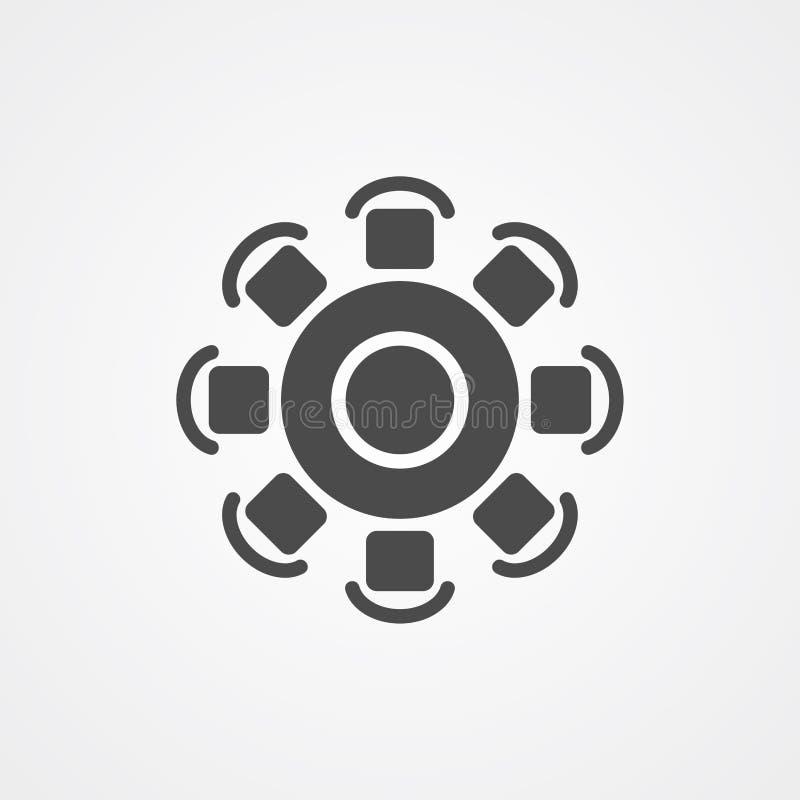 Round stołu ikony znaka wektorowy symbol royalty ilustracja