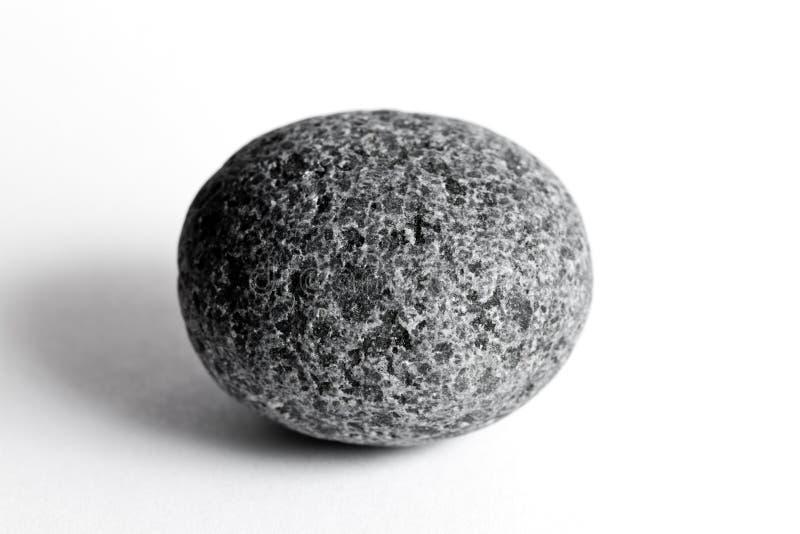 Round stone. On white background royalty free stock image