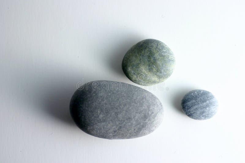 Round Stones. On white background