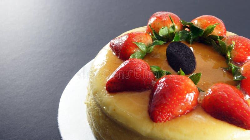 A Round Strawberry Cake stock image