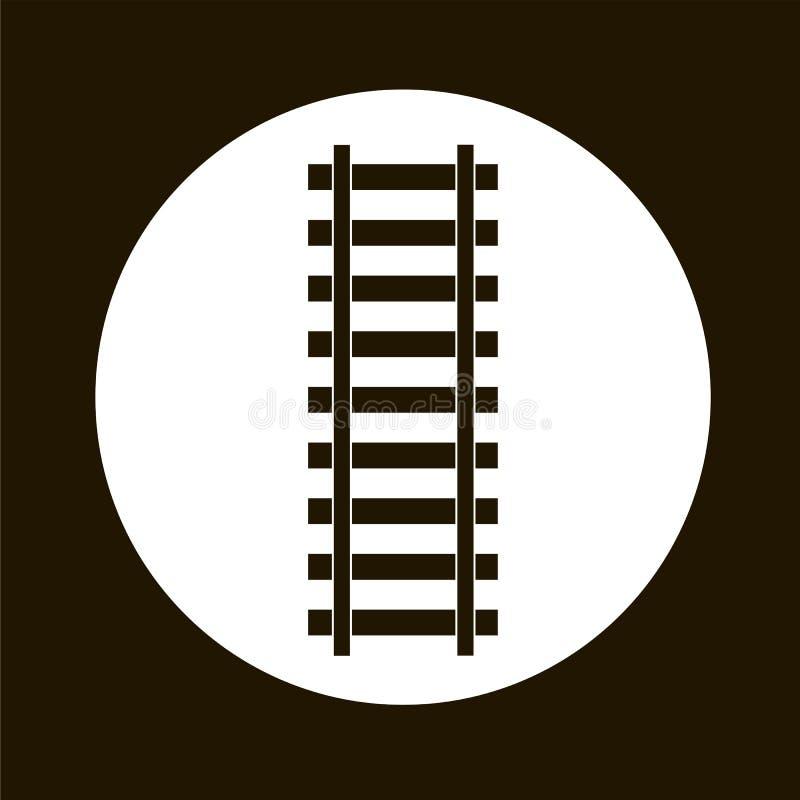 Round stylizowany płaski projekta poręcz z powrotem ostro protestować ikonę royalty ilustracja