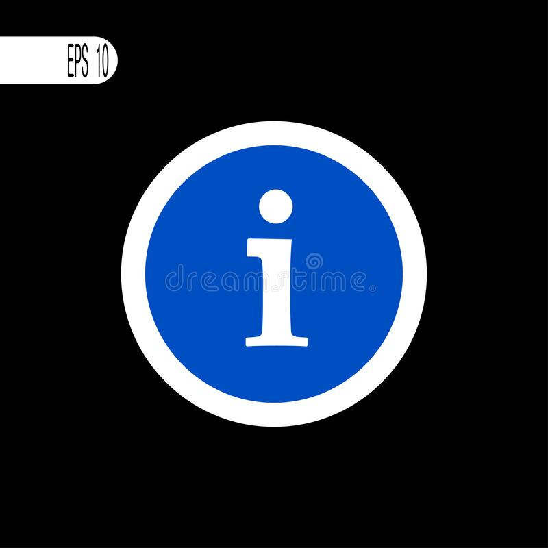 Round szyldowego bielu cienka linia Informacja, informacja znak, ikona - wektorowa ilustracja royalty ilustracja