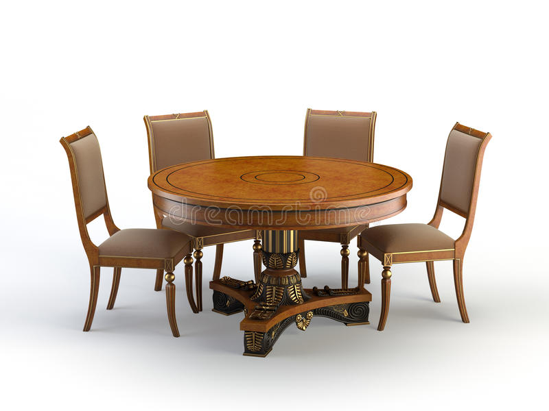 Round table stock illustration