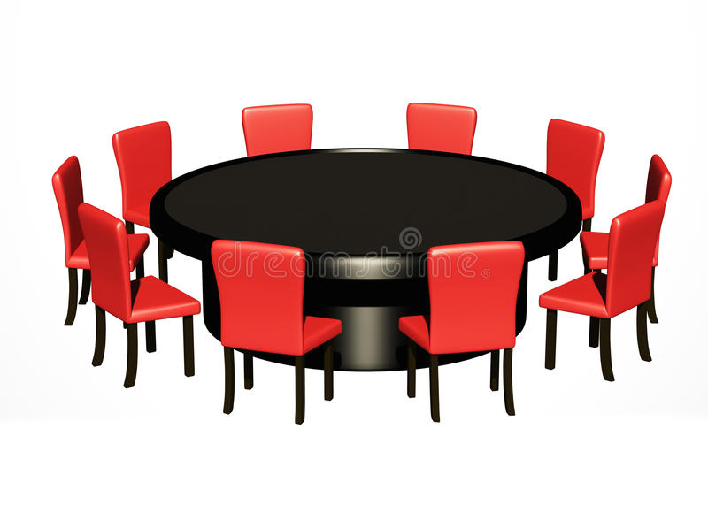 Round table stock images