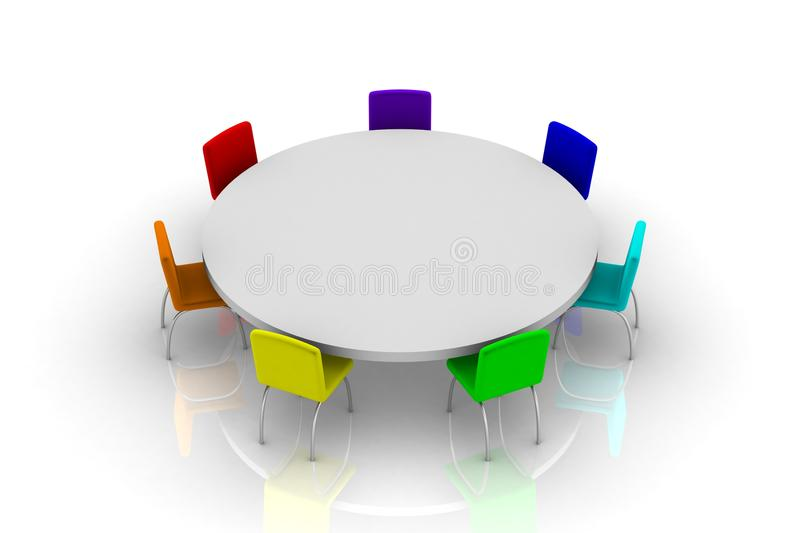 Round table vector illustration