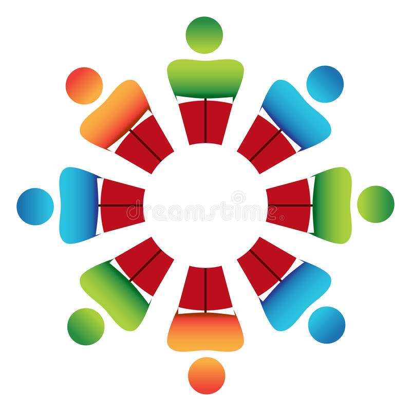 Round Table Discussion stock vector. Illustration of clip ...