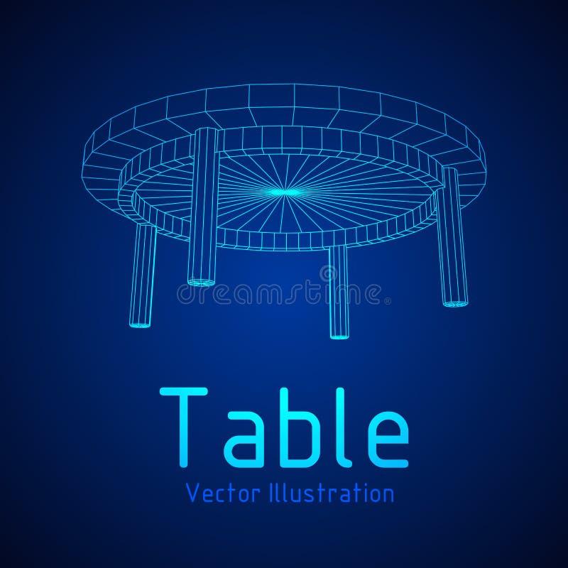 Table furniture wireframe stock illustration