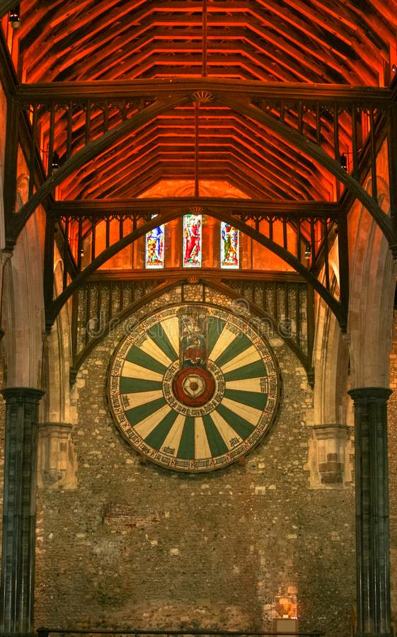 Round Table King Arthur, Winchester, England, royalty free stock photo