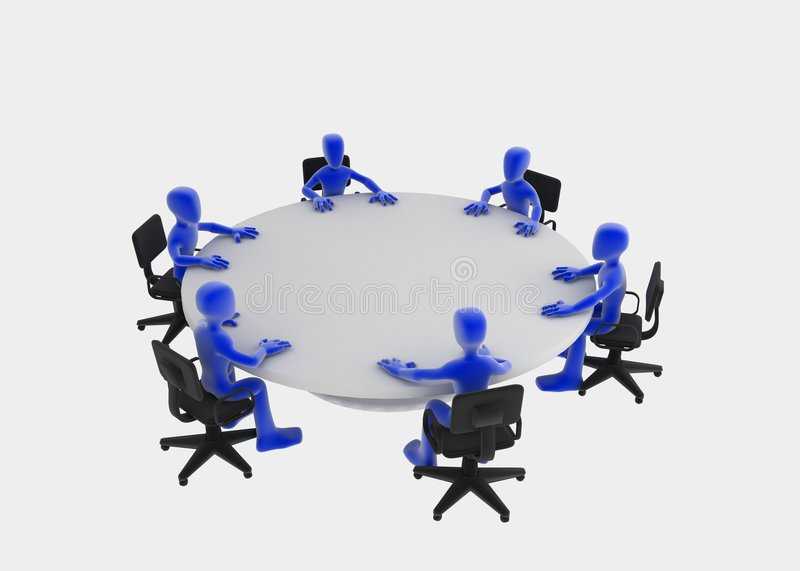 Download Round Table Meeting Royalty Free Stock Image - Image: 4111226