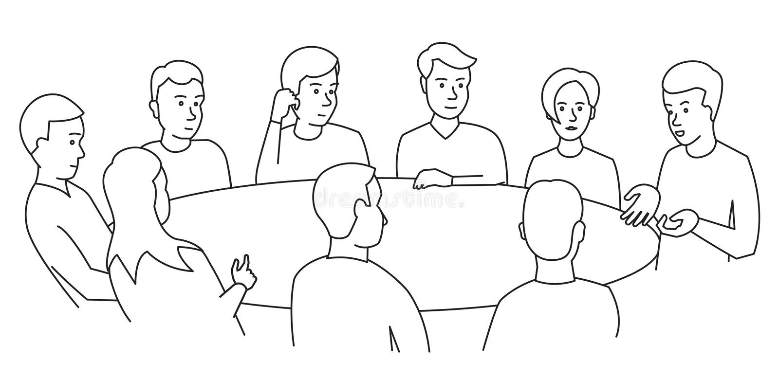 Discussion Round Table Stock Illustrations 1 804 Discussion Round Table Stock Illustrations Vectors Clipart Dreamstime