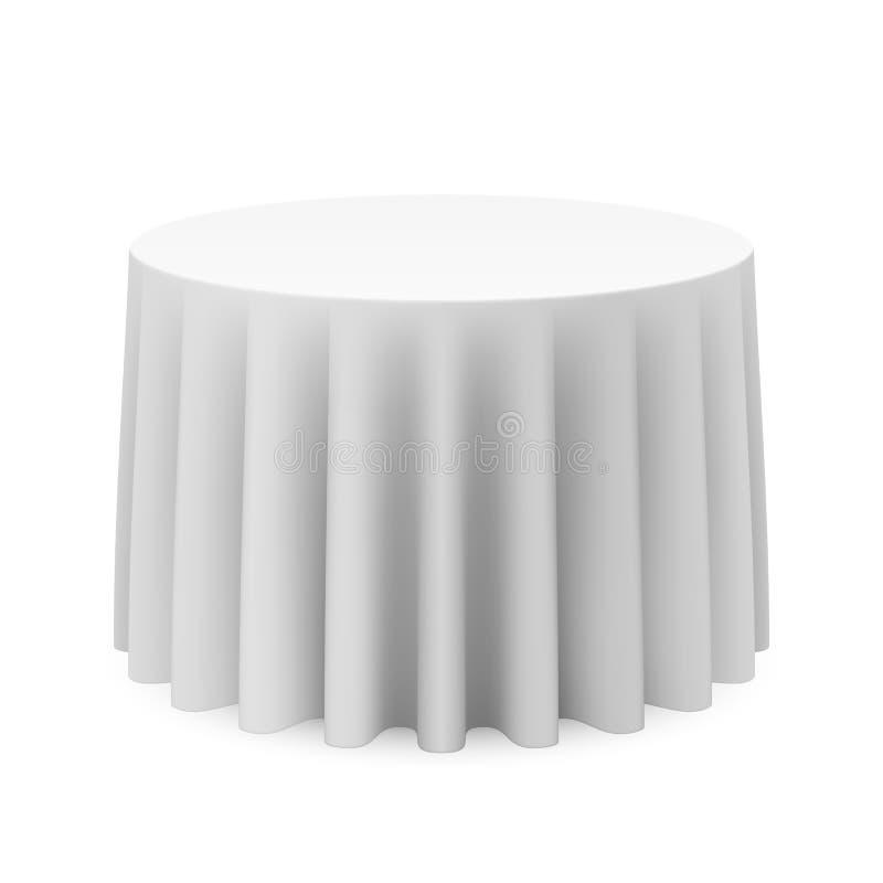 Round Tablecloth Obraz Royalty Free