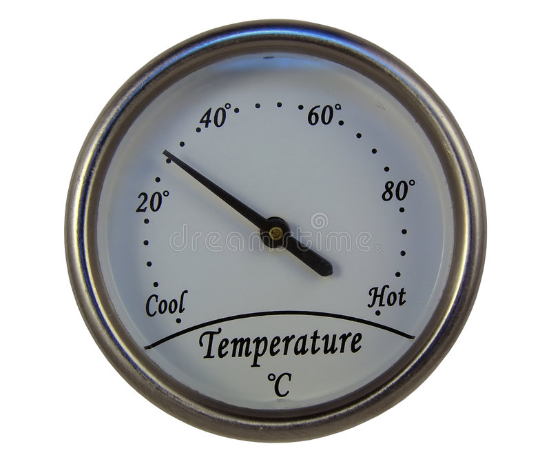 Round thermometer royalty free stock photos