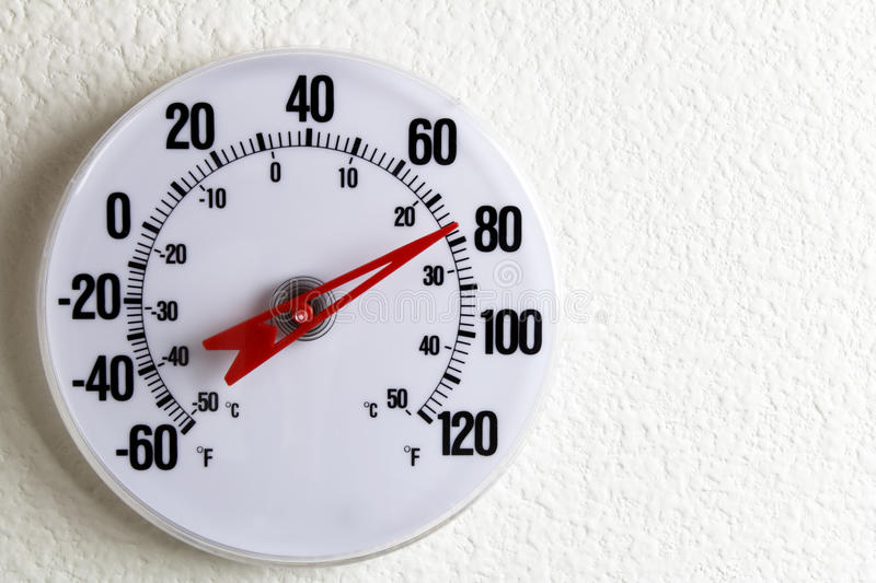 Round Thermometer on a Wall royalty free stock photos