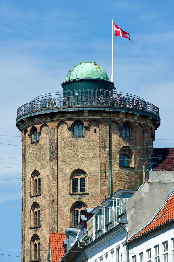 Round Tower in Copenhagen, Denmark stock image
