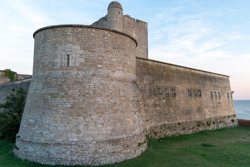 Round tower of fort Vauban in  Fouras Charente France. A round tower of fort Vauban in Fouras Charente France royalty free stock image