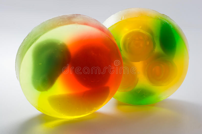 Round transparent soap bricks royalty free stock image