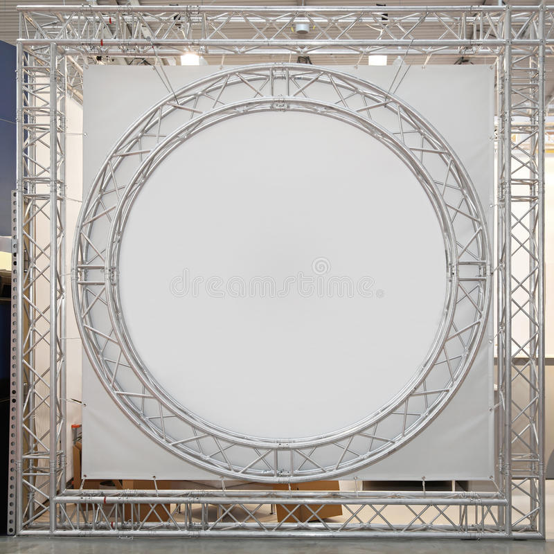 Round truss stage. Round truss with empty space at stage stock photography