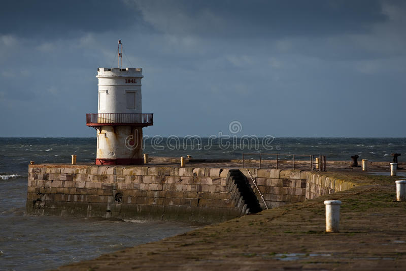 Round Turret On Quayside Stock Photo
