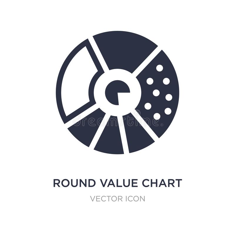 round value chart icon on white background. Simple element illustration from Business and analytics concept stock illustration