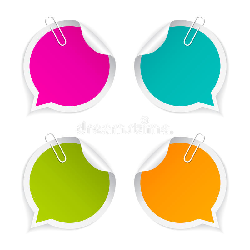 Round vector sticker. Colorful round vector stickers set royalty free illustration