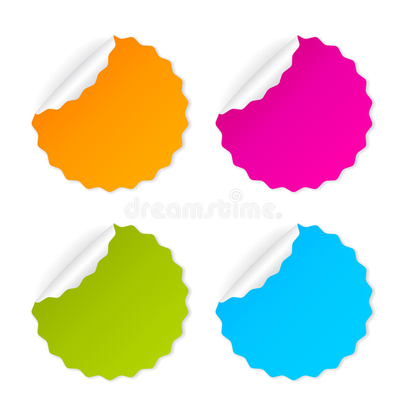 Round vector stickers vector illustration