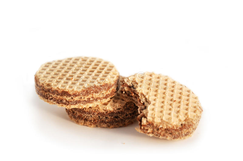Round wafers stock photography