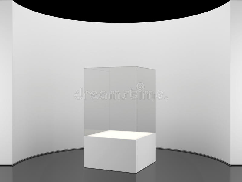 Exhibition Stand Framework : Round wall with exhibition stand stock illustration