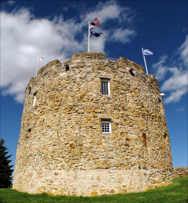 Round Walls. Fort William Henry. Located near New Harbor, Maine stock photos