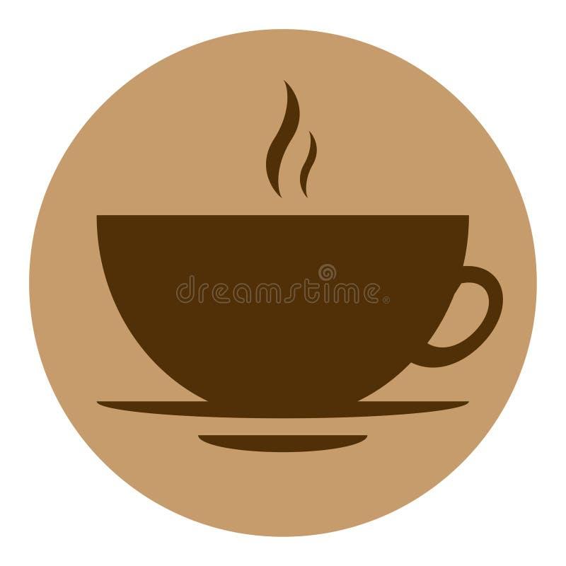 Round wektorowej ikony kawowy projekt zdjęcie royalty free