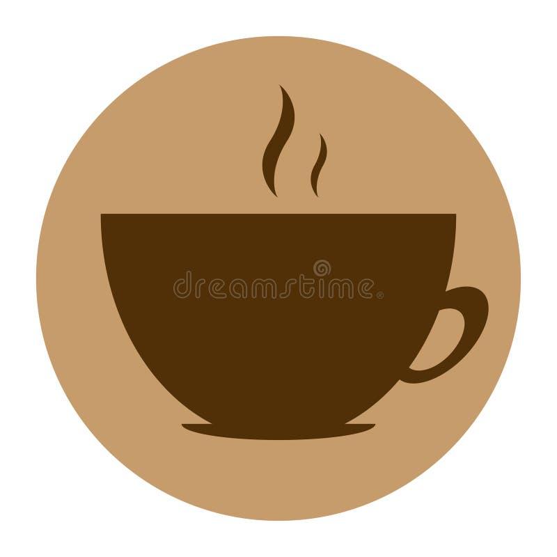 Round wektorowej ikony kawowy projekt obrazy stock