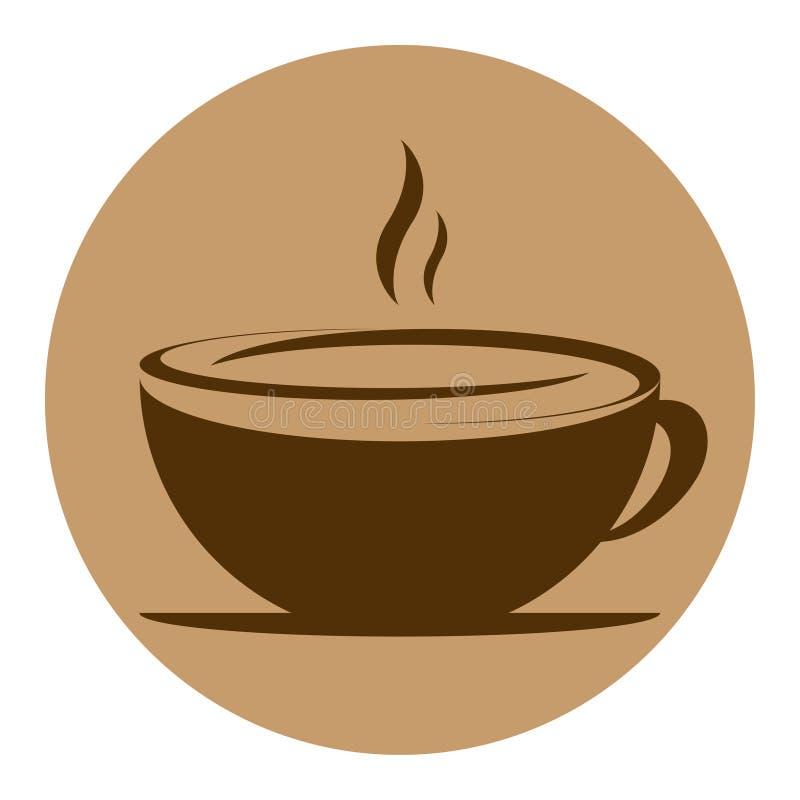 Round wektorowej ikony kawowy projekt zdjęcia royalty free