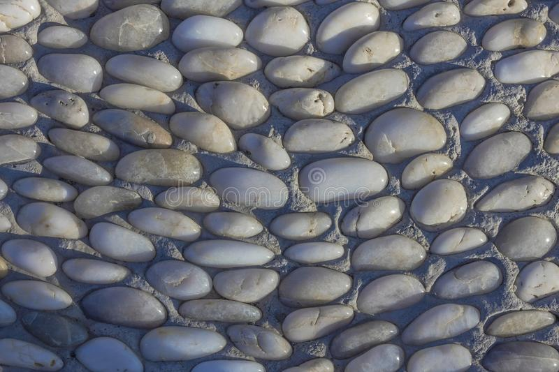 Round white pebbles. stock photography