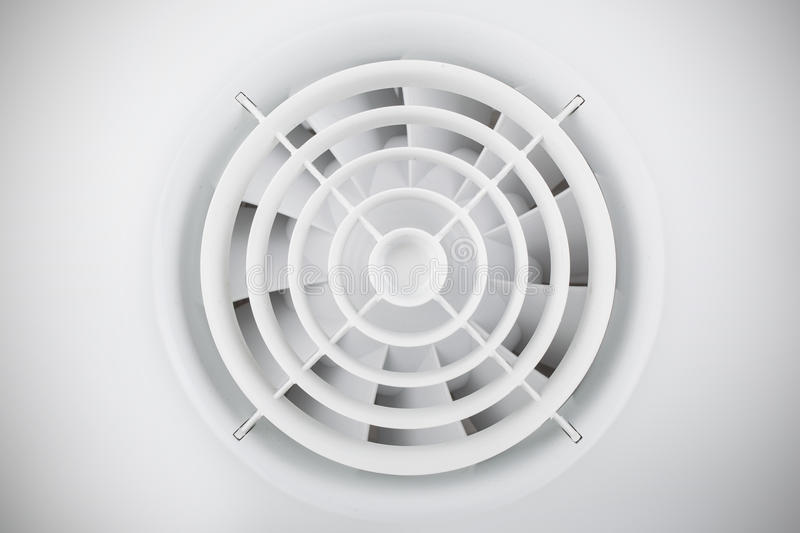 Round White Plastic Air Fan Royalty Free Stock Images