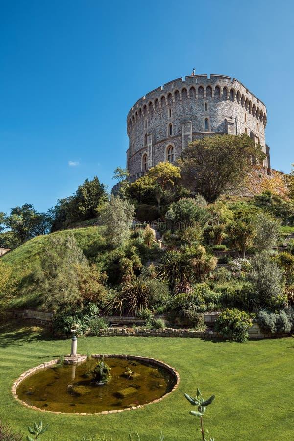 Round wierza Windsor kasztel, Berkshire, Anglia Oficjalna Rezydencja Jej majestat kr?lowa obraz royalty free