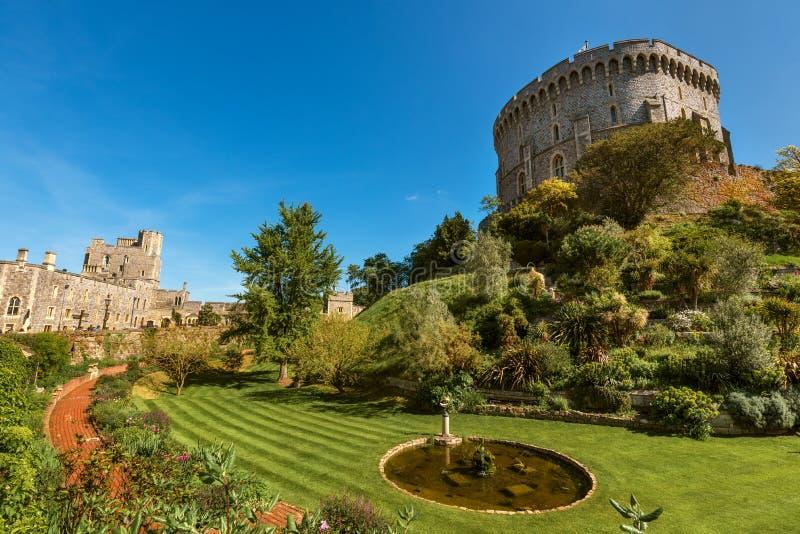Round wierza Windsor kasztel, Berkshire, Anglia Oficjalna Rezydencja Jej majestat kr?lowa zdjęcie stock