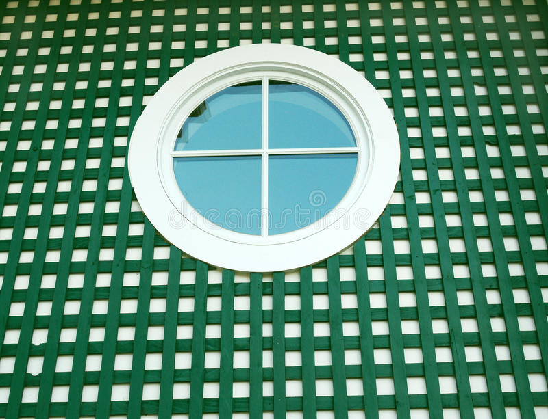 Download Round window on green stock image. Image of round, frame - 15503709
