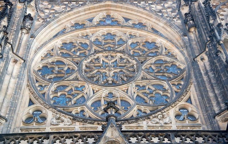 Download Round Window Mosaic Of St Vitus Cathedral In Prague Stock Image