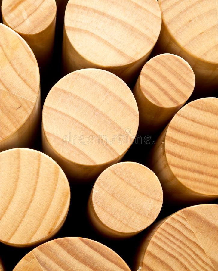 Round wood. Round ends of wood for abstract background royalty free stock image