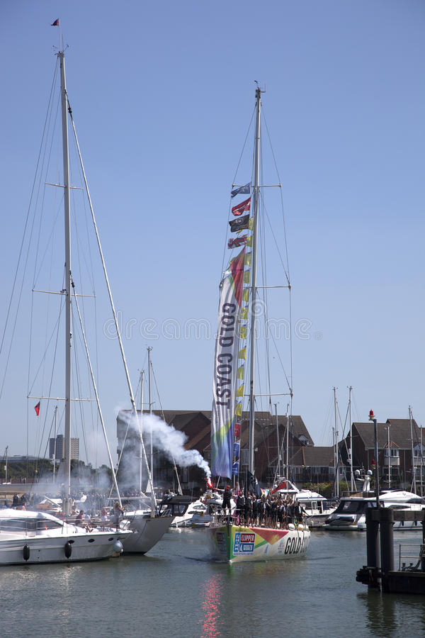 Download Round the World Yacht Race editorial stock photo. Image of marina - 25821288