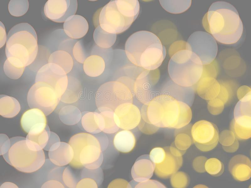Round yellow layered effect blurred light abstract celebration background. Bright, fun, holiday, party, fantasy, illuminated, night, circle, wallpaper, color royalty free stock photography